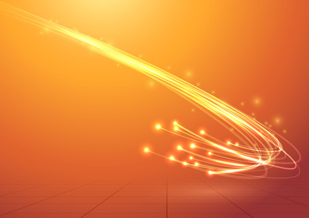 Illustration pour Bright electric abstract cable speed bandwidth.  - image libre de droit