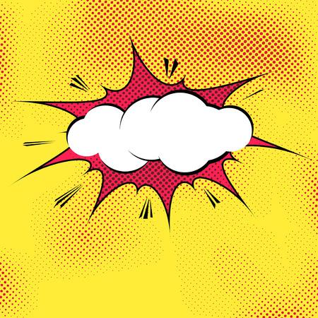 Illustration pour Speech bubble pop-art splash explosion template - comics book dotted background. Vector illustration - image libre de droit