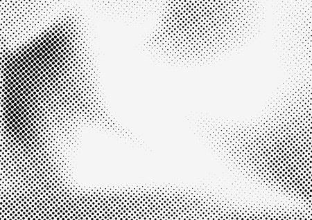 Illustration pour Dotted halftone grey and black illustration. - image libre de droit