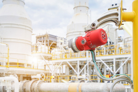 Photo pour Fire and gas detection and monitoring system in hazardous area in oil and gas central processing platform to detect any of fire by detect infrared ray and sent alarm to control room. - image libre de droit