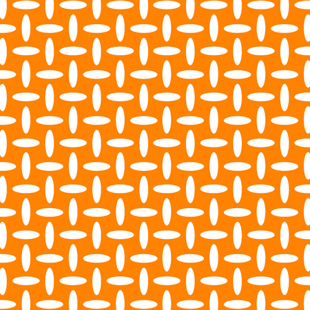 Illustration for Geometric white and orange seamless vector pattern. - Royalty Free Image
