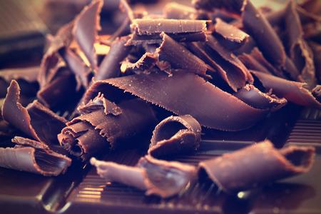 Photo pour Dark chocolate shavings - image libre de droit