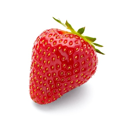 Foto de close up of strawberry on white background with clipping path - Imagen libre de derechos