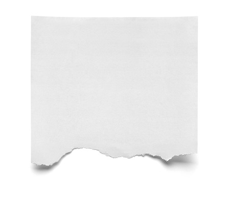 Photo pour close up of  a piece of note paper on white background - image libre de droit
