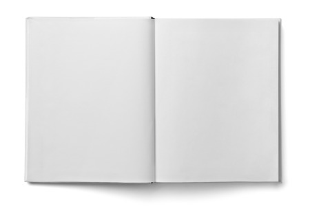Photo pour close up of a  blank white  book on white background - image libre de droit
