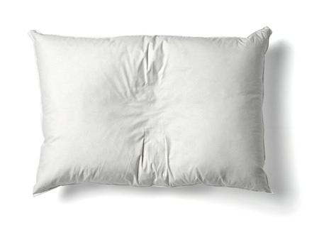Photo pour close up of  a white pillow on white background - image libre de droit