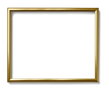 Photo for close up of  a vintage wood frame on white background - Royalty Free Image