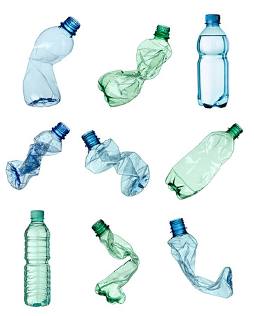 Foto de close up of a  plastic bottle on white background - Imagen libre de derechos