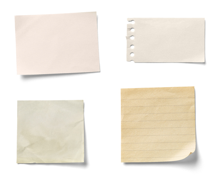 Foto de note paper on white background - Imagen libre de derechos