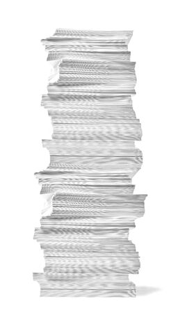 Photo pour close up of a stack of paper on white background - image libre de droit