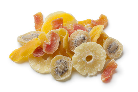 Photo for Dried and candied fruit on white background - Royalty Free Image
