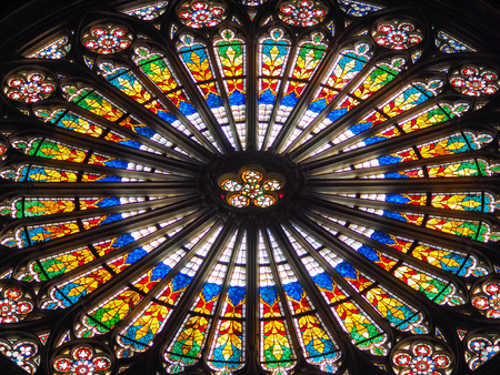 Photo for window of Notre Dame - Royalty Free Image