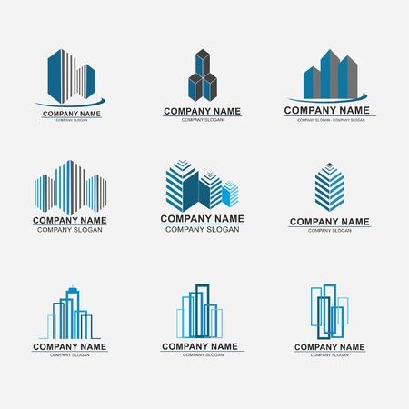 Illustration pour Set of real estate company  design abstract construction  design - image libre de droit