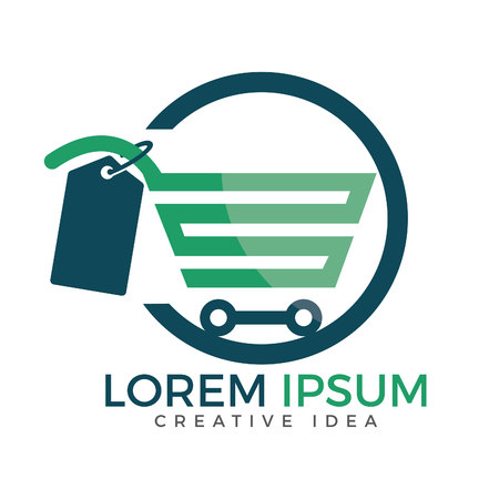 Illustration pour Shopping cart vector logo design. On-line shopping app icon. - image libre de droit
