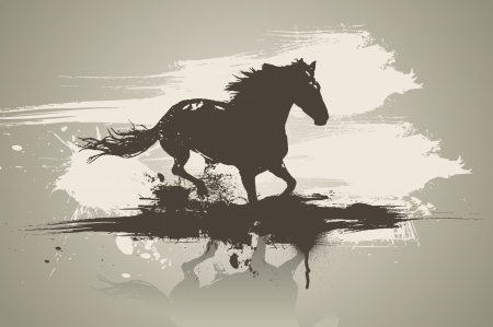 Artistic horse illustration.