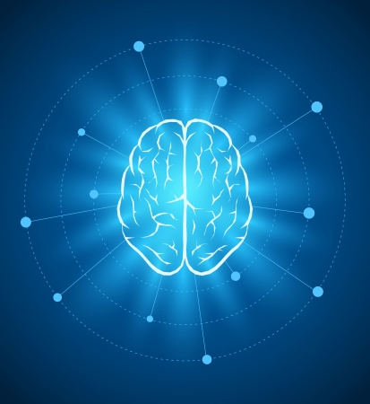 Illustration pour Vector brain design template  - image libre de droit