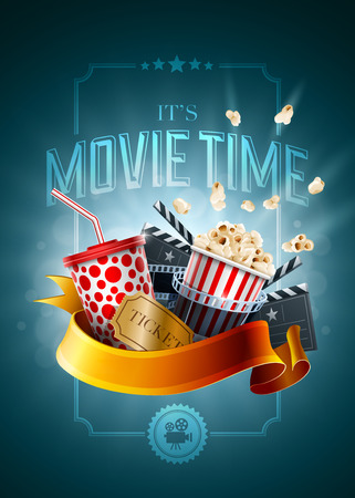 Ilustración de Movie concept poster design template. Detailed vector illustration. - Imagen libre de derechos