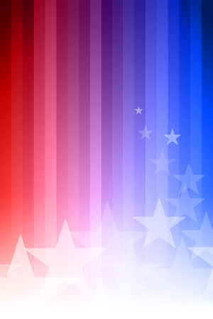 Illustration pour Vector abstract star background. Blue, red and white colors. - image libre de droit