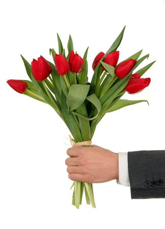Photo for Hand Holding Flowers - Royalty Free Image