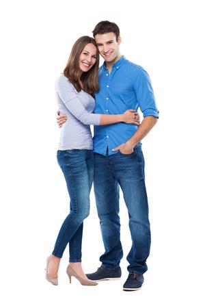 Photo pour Young couple standing - image libre de droit