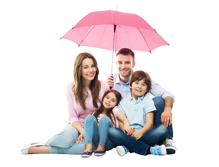 Foto de Family with the umbrella - Imagen libre de derechos