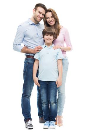 Photo pour Family with son - image libre de droit
