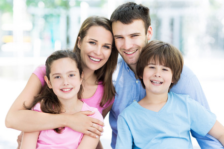 Photo for Young family smiling - Royalty Free Image