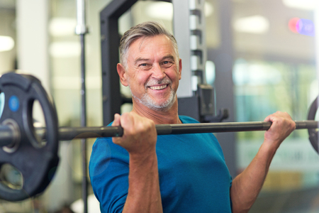Photo for Mature man in health club - Royalty Free Image