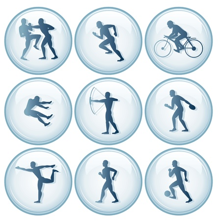 sports competition Sport Icons. Vector Set 1