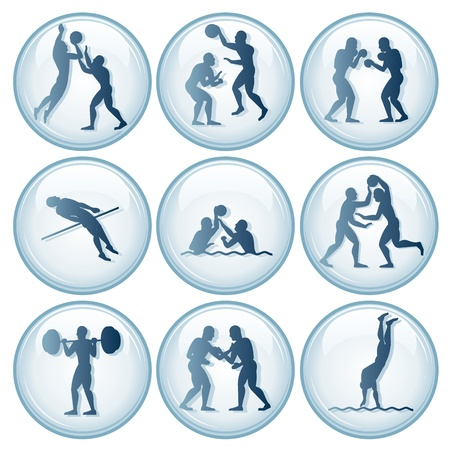 sports competition Sport Icons.Vector Set 2