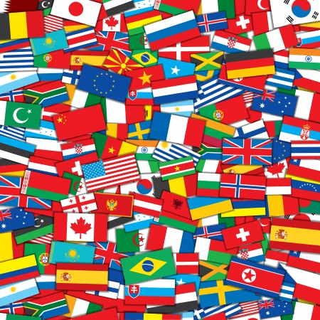 Illustration pour Background from Various World Flags . EPS10 Vector Design Template - image libre de droit