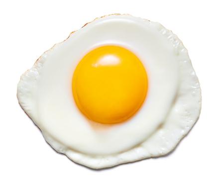 Foto de single fried egg isolated on white background - Imagen libre de derechos