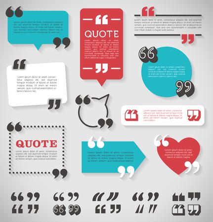 Illustration pour big set of vector quote decoration labels for web and paper publishing - image libre de droit