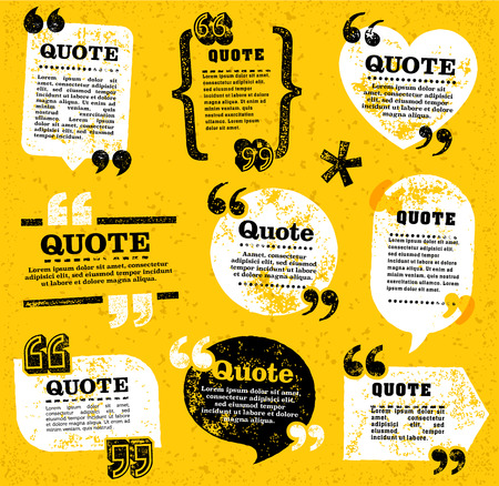 Ilustración de big set of vector grunge quote decoration labels for web and paper publishing - Imagen libre de derechos