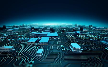 Foto für illustration circuit board dept of field - Lizenzfreies Bild