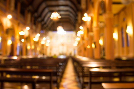 Photo pour blurred photo of church interior for abstract background - image libre de droit