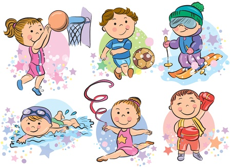 Sports kids  Contains transparent objects