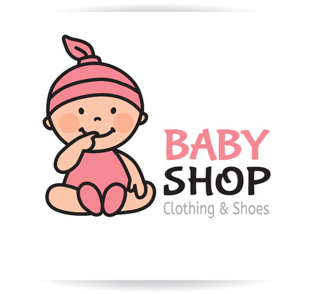 Photo pour Baby shop logo. Eps10 format - image libre de droit