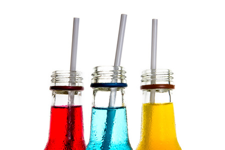 Foto de close up  the cool colorful drink - Imagen libre de derechos
