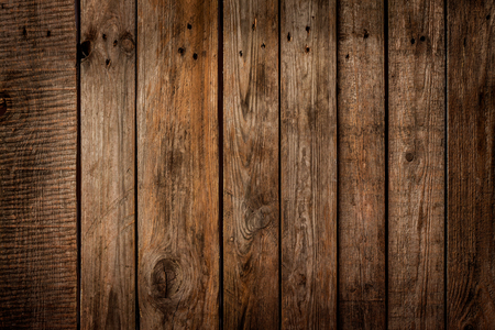 Foto de Old vintage planked wood board - rustic or rural background with free text space - Imagen libre de derechos