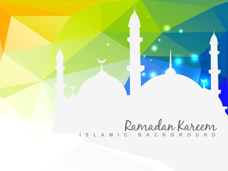 Illustration for vector beautiful islamic background design - Royalty Free Image