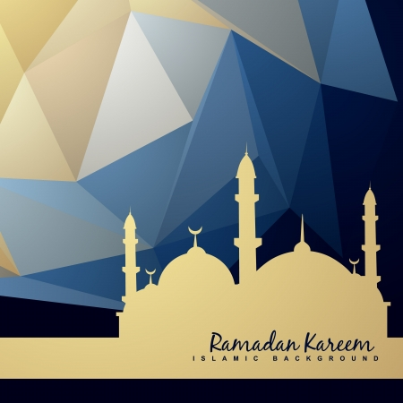 Illustration for beautiful background of mosque and abstract background - Royalty Free Image