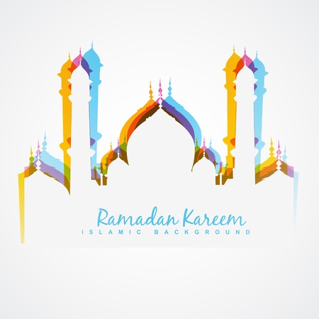 Illustration for vector colorful mosque design illustration - Royalty Free Image