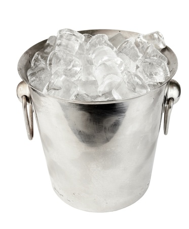 ice bucket on white background