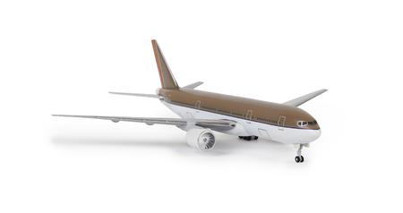 Foto de Toy airplane isolated on a white background - Imagen libre de derechos