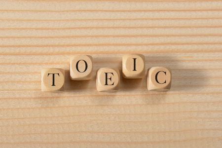 Photo for Toeic word on wooden cubes. Toeic concept - Royalty Free Image