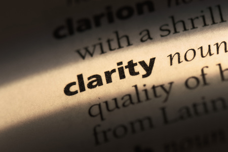 Foto de clarity word in a dictionary. clarity concept - Imagen libre de derechos