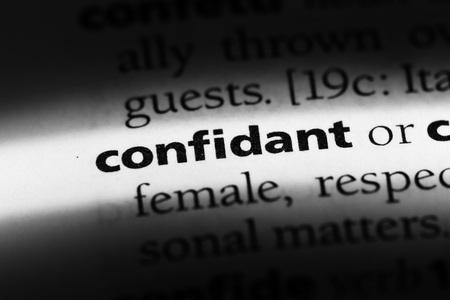 Photo pour confidant word in a dictionary. confidant concept - image libre de droit