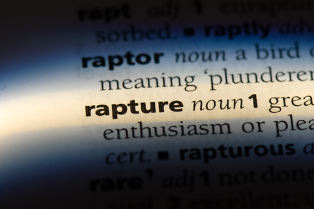 Photo for rapture word in a dictionary. rapture concept. - Royalty Free Image