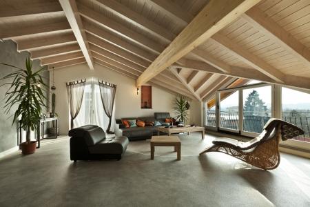 Foto de interior new loft, ethnic furniture, living room  - Imagen libre de derechos